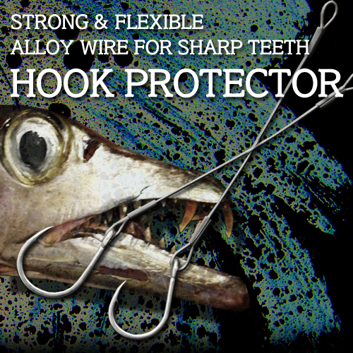 """HOOK PROTECTOR"" SUPER STRONG & FLEXIBLE JIG HOOK FOR TEETH FISH"